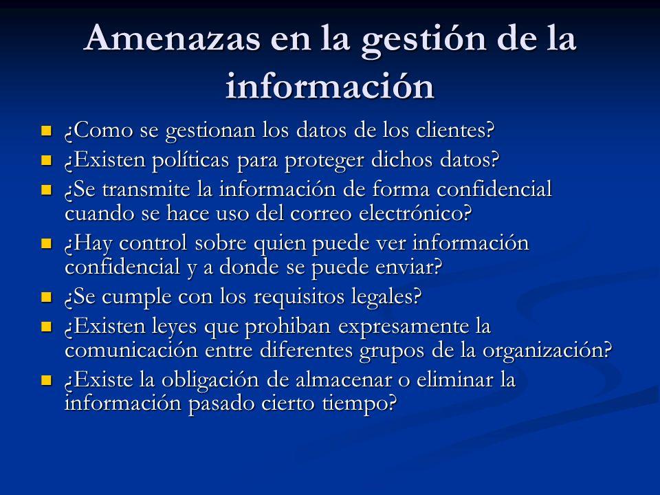 Amenazas en la gestión de la información