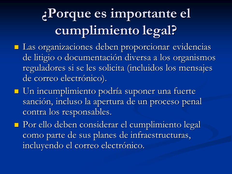 ¿Porque es importante el cumplimiento legal