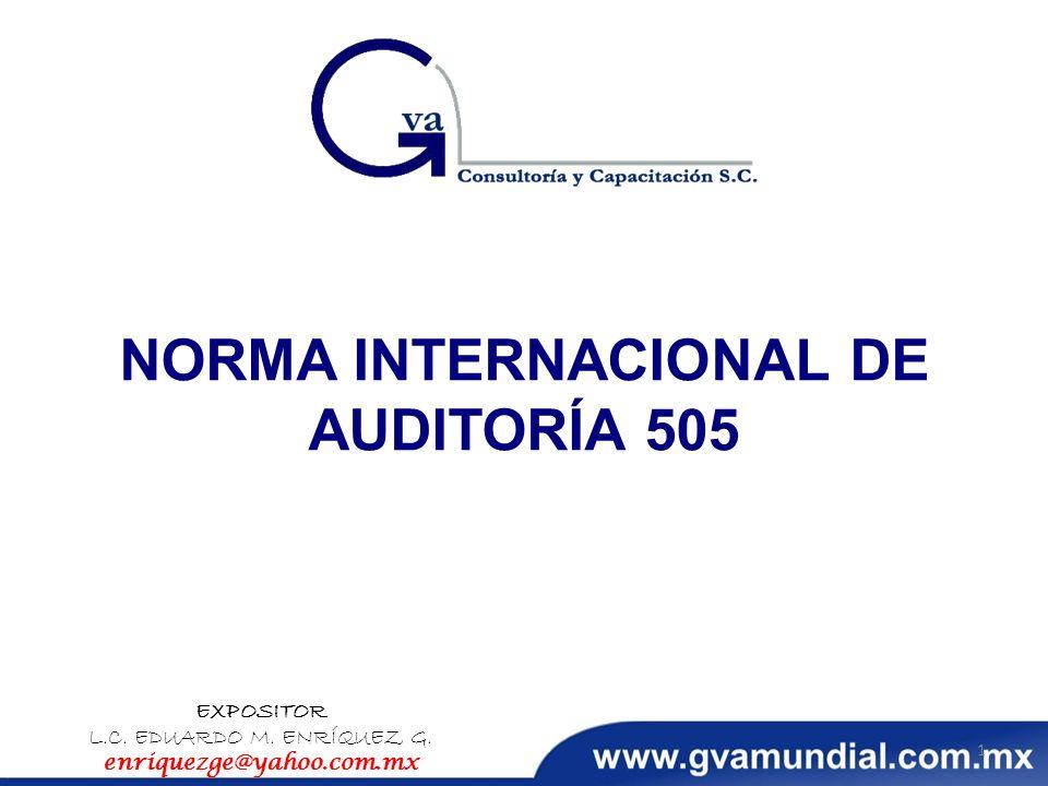 NORMA INTERNACIONAL DE AUDITORÍA 505