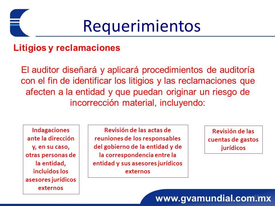 Revisión de las cuentas de gastos jurídicos