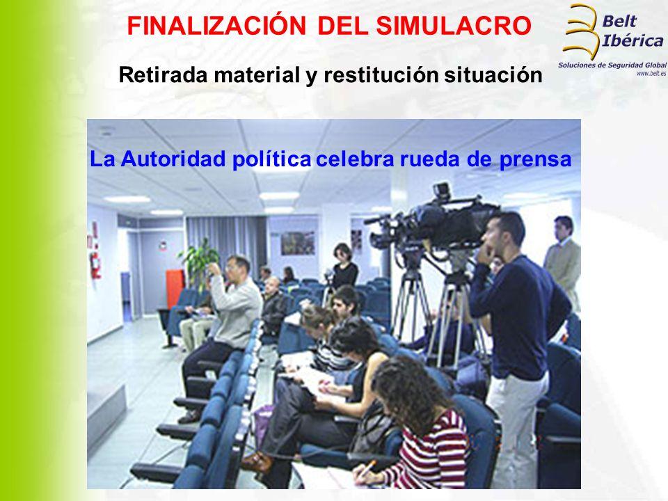 FINALIZACIÓN DEL SIMULACRO