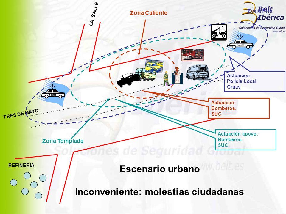 Inconveniente: molestias ciudadanas