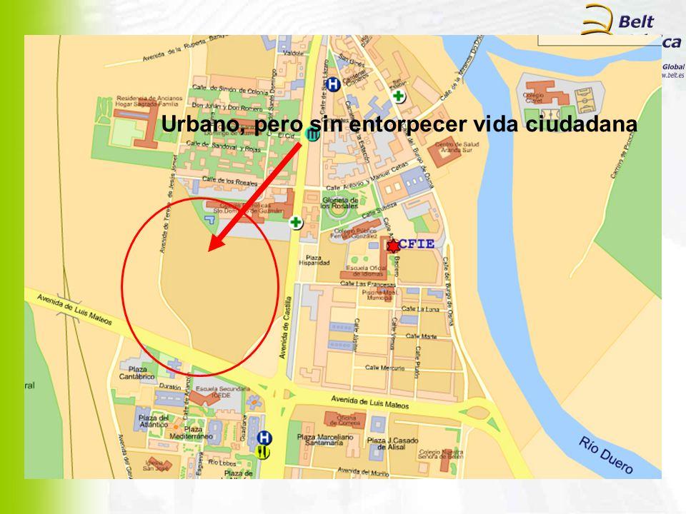 Urbano, pero sin entorpecer vida ciudadana