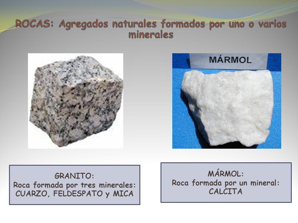 ROCAS: Agregados naturales formados por uno o varios minerales