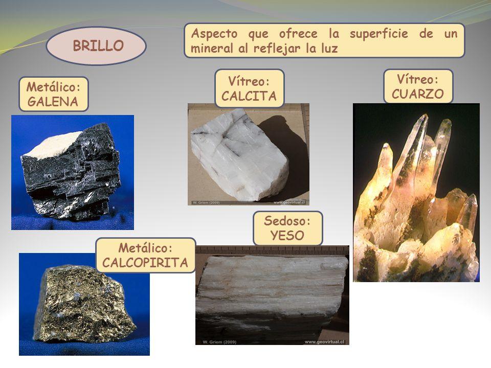 Aspecto que ofrece la superficie de un mineral al reflejar la luz