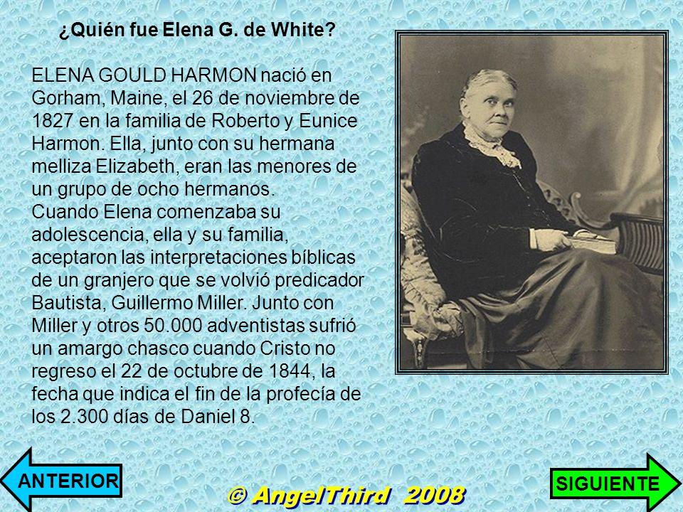 ¿Quién fue Elena G. de White
