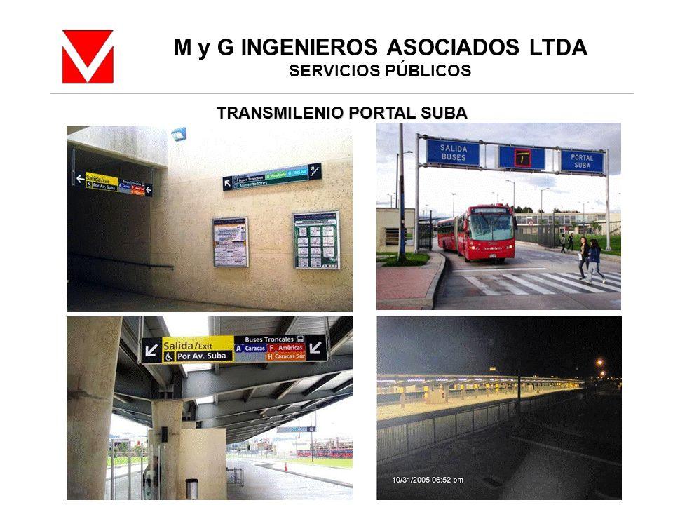 M y G INGENIEROS ASOCIADOS LTDA TRANSMILENIO PORTAL SUBA