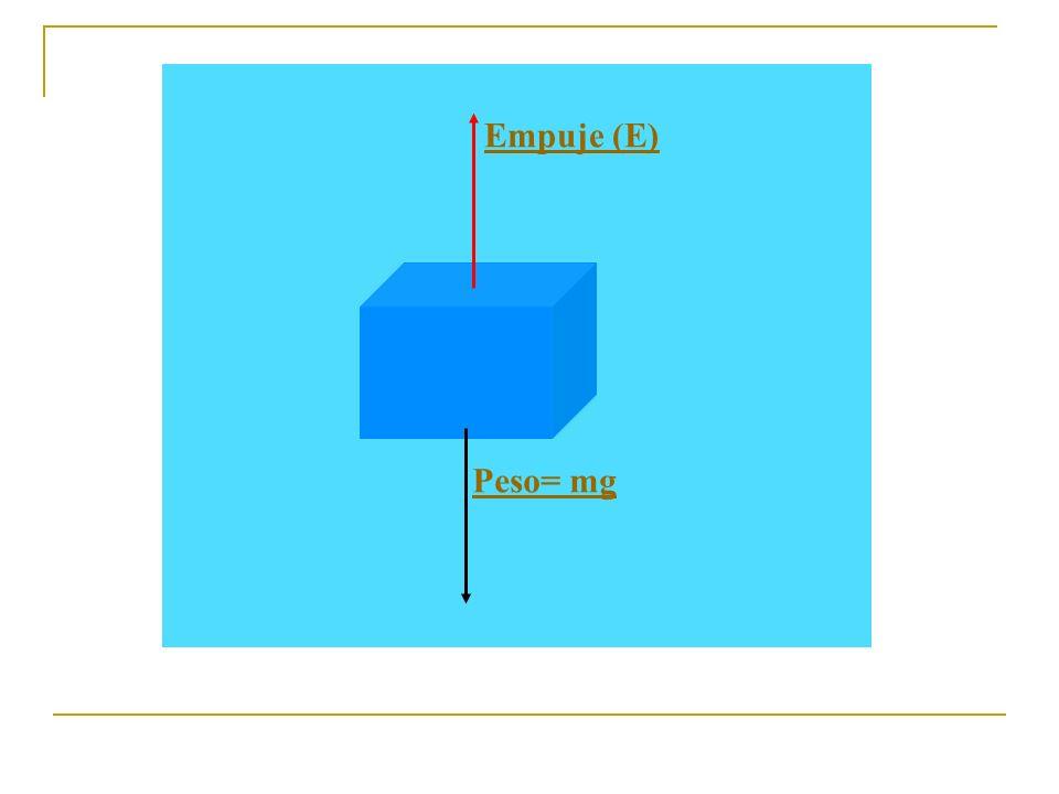 Empuje (E) Peso= mg
