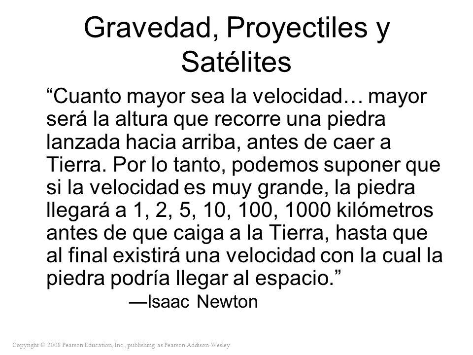 Gravedad, Proyectiles y Satélites
