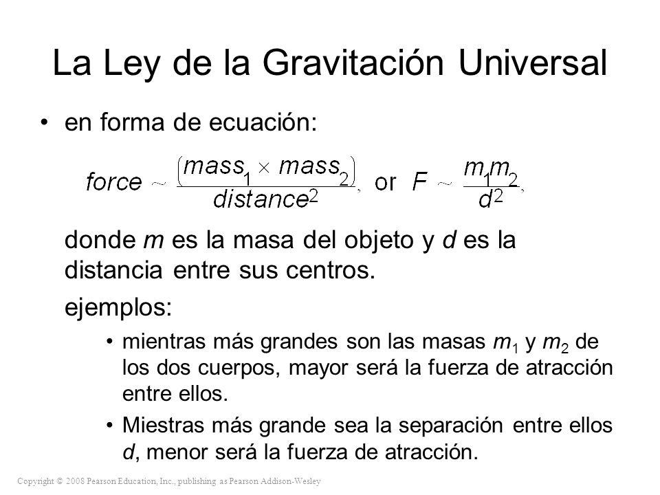 La Ley de la Gravitación Universal