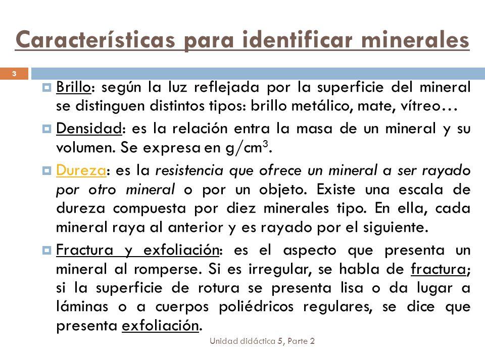 Características para identificar minerales