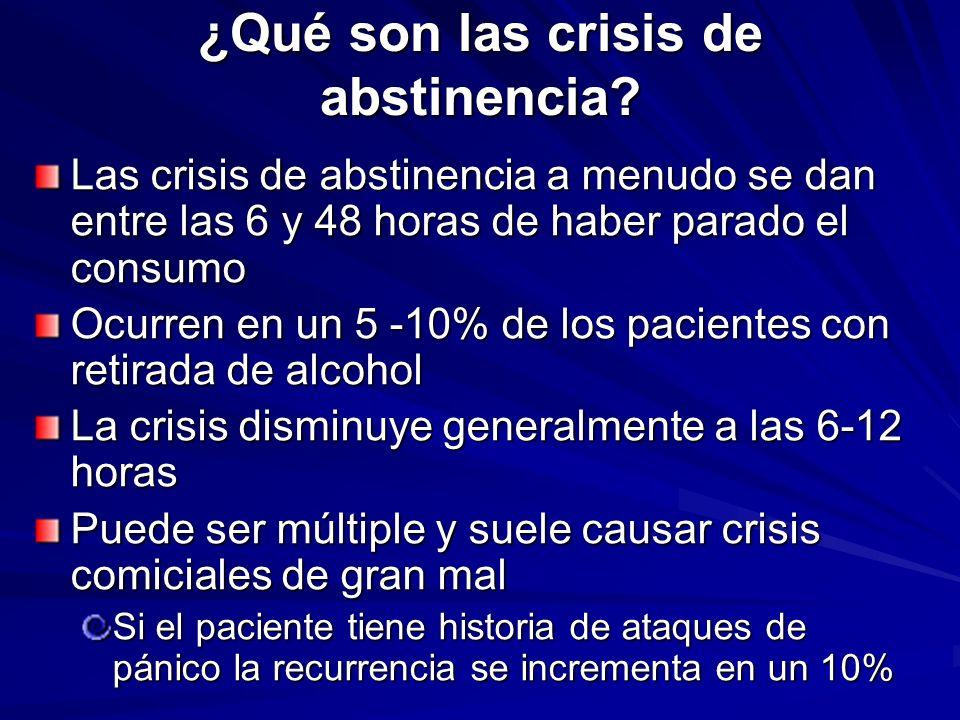 ¿Qué son las crisis de abstinencia