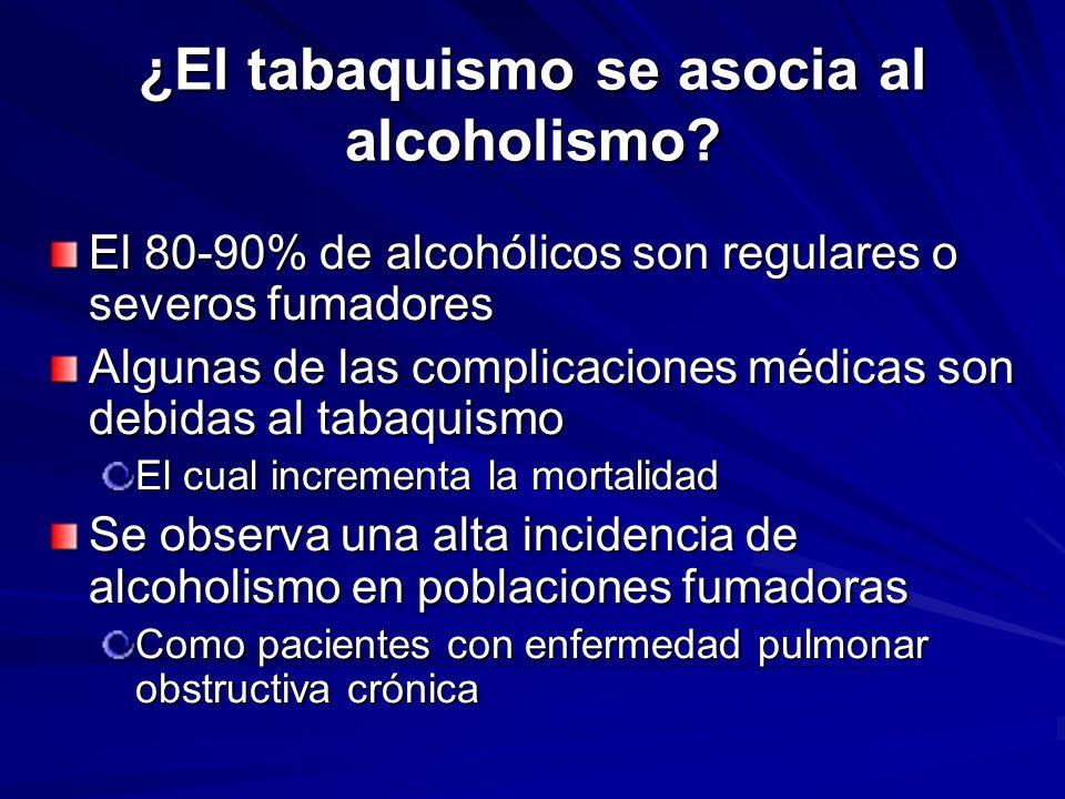 ¿El tabaquismo se asocia al alcoholismo