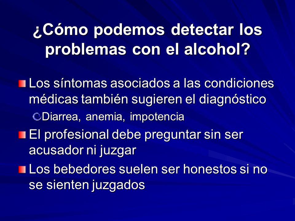 ¿Cómo podemos detectar los problemas con el alcohol
