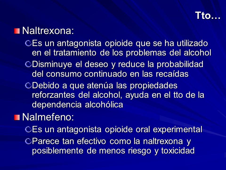 Tto… Naltrexona: Nalmefeno: