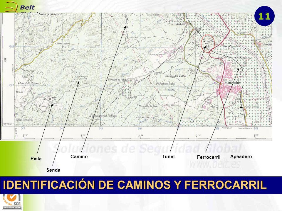 IDENTIFICACIÓN DE CAMINOS Y FERROCARRIL