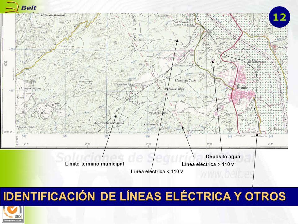 IDENTIFICACIÓN DE LÍNEAS ELÉCTRICA Y OTROS