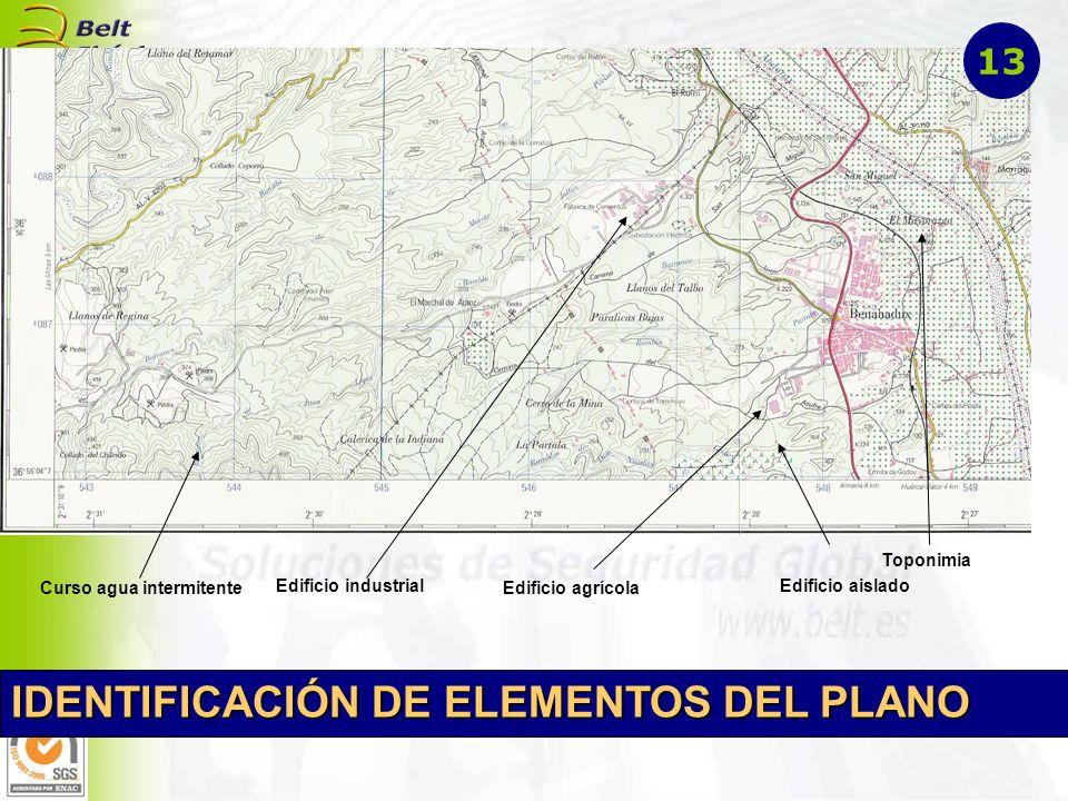 IDENTIFICACIÓN DE ELEMENTOS DEL PLANO