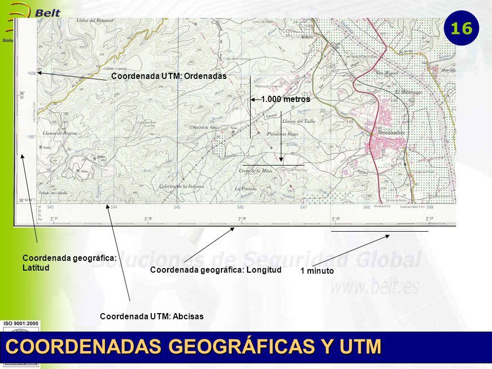 COORDENADAS GEOGRÁFICAS Y UTM