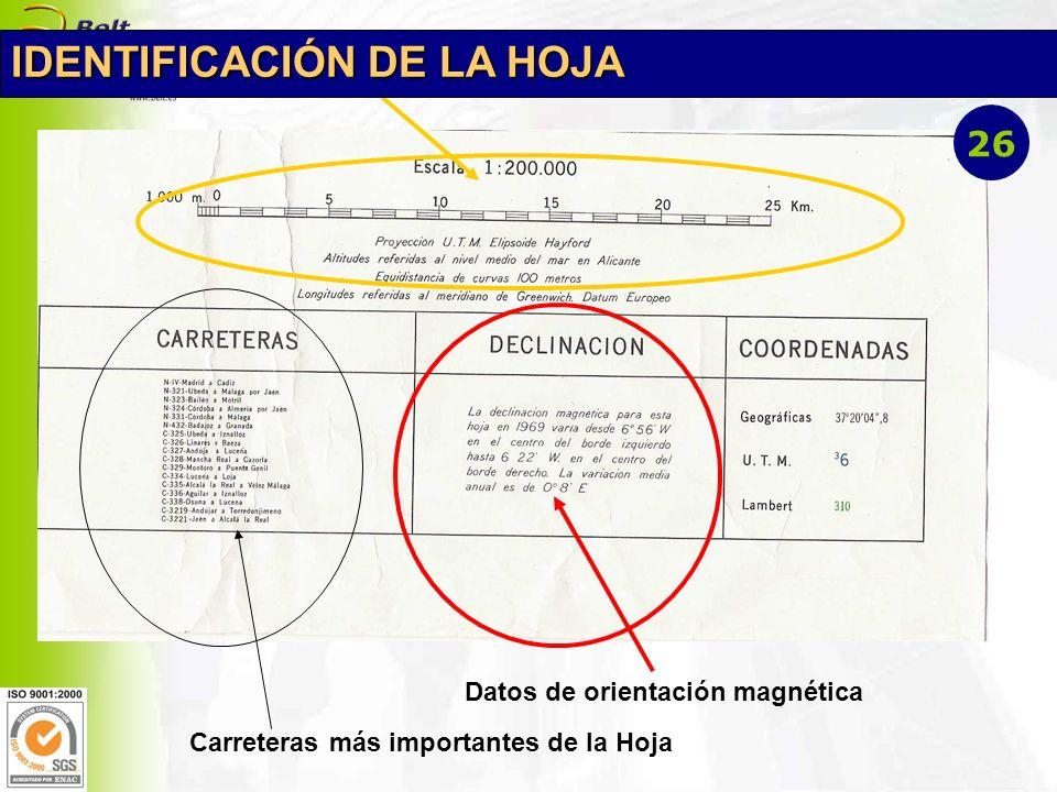 IDENTIFICACIÓN DE LA HOJA