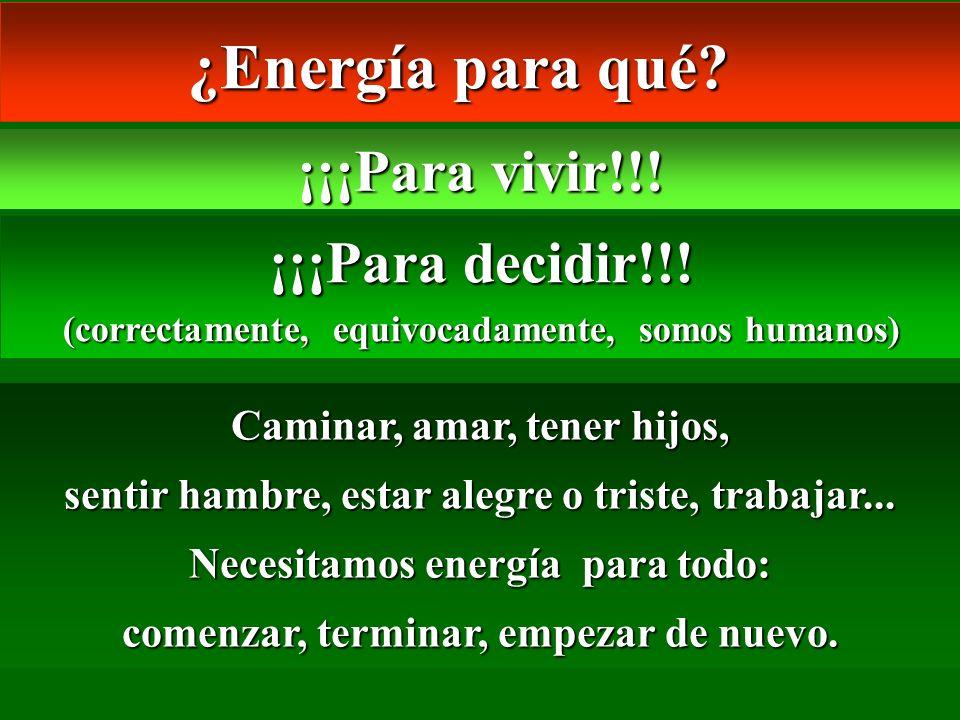 ¿Energía para qué ¡¡¡Para vivir!!! ¡¡¡Para decidir!!!
