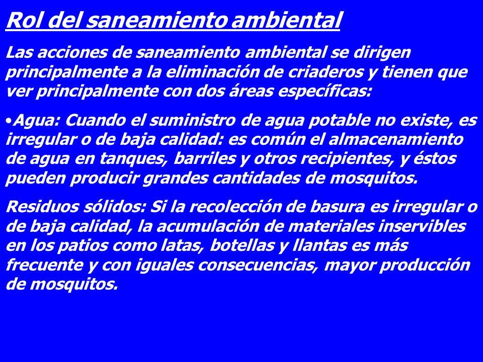 Rol del saneamiento ambiental