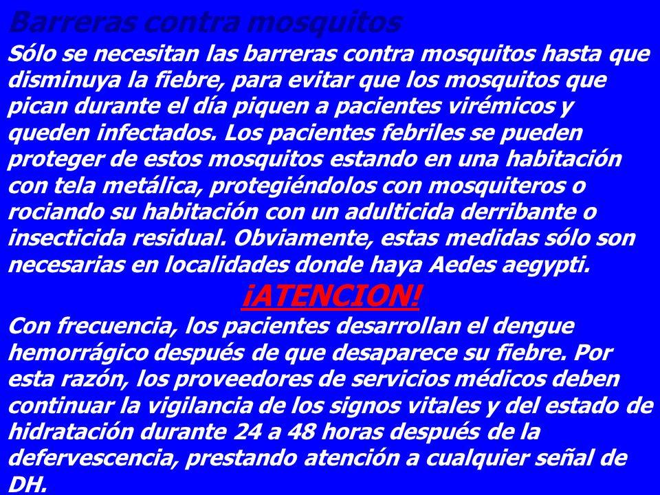 Barreras contra mosquitos