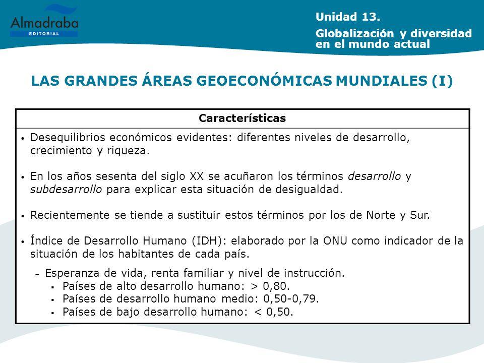 LAS GRANDES ÁREAS GEOECONÓMICAS MUNDIALES (I)