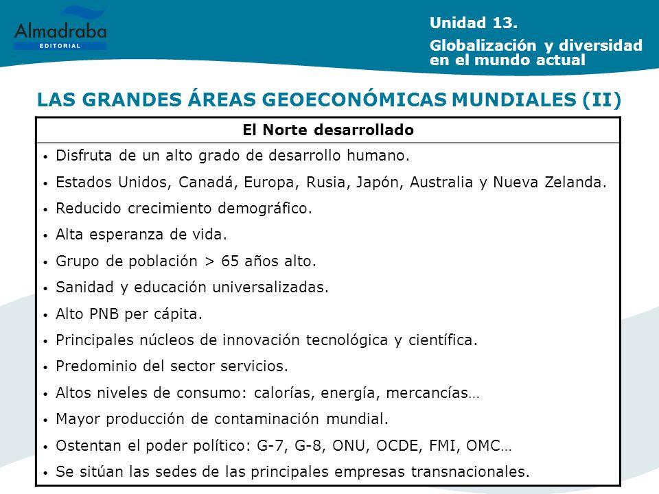 LAS GRANDES ÁREAS GEOECONÓMICAS MUNDIALES (II)