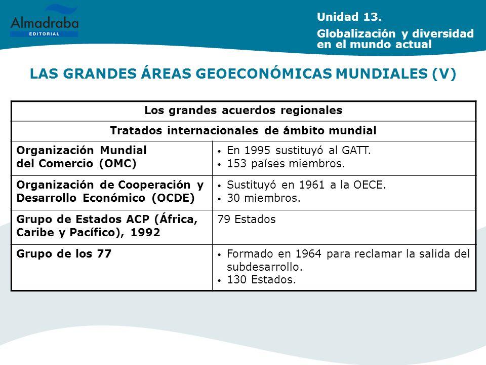 LAS GRANDES ÁREAS GEOECONÓMICAS MUNDIALES (V)