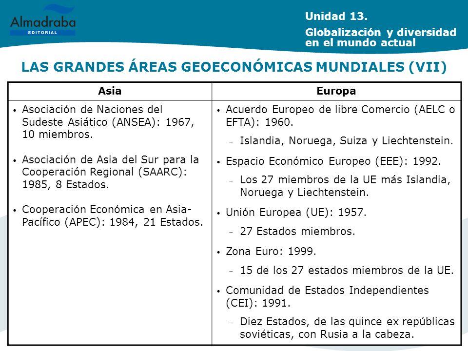 LAS GRANDES ÁREAS GEOECONÓMICAS MUNDIALES (VII)