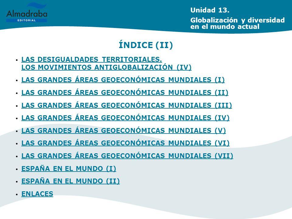 ÍNDICE (II) Unidad 13. Globalización y diversidad en el mundo actual