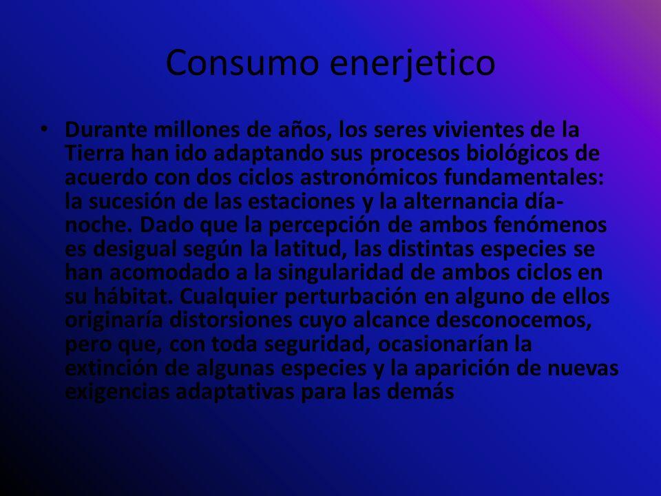 Consumo enerjetico