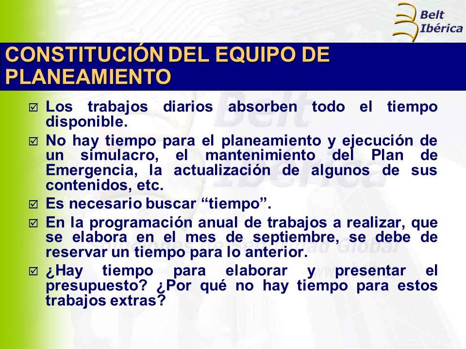 CONSTITUCIÓN DEL EQUIPO DE PLANEAMIENTO