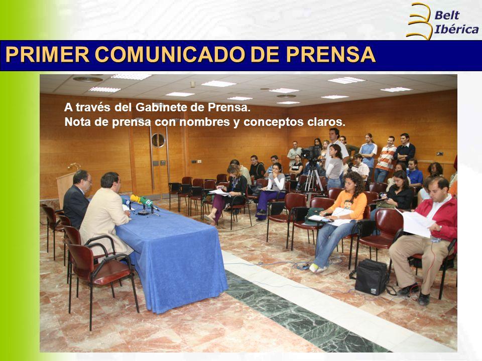 PRIMER COMUNICADO DE PRENSA