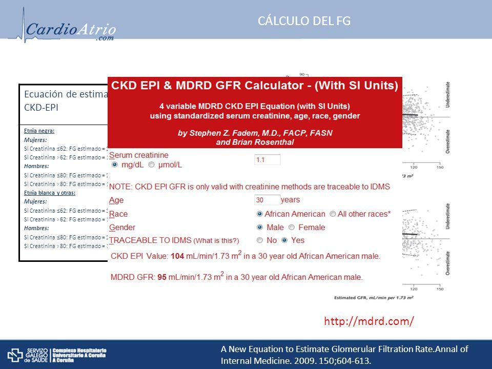 CÁLCULO DEL FG http://mdrd.com/