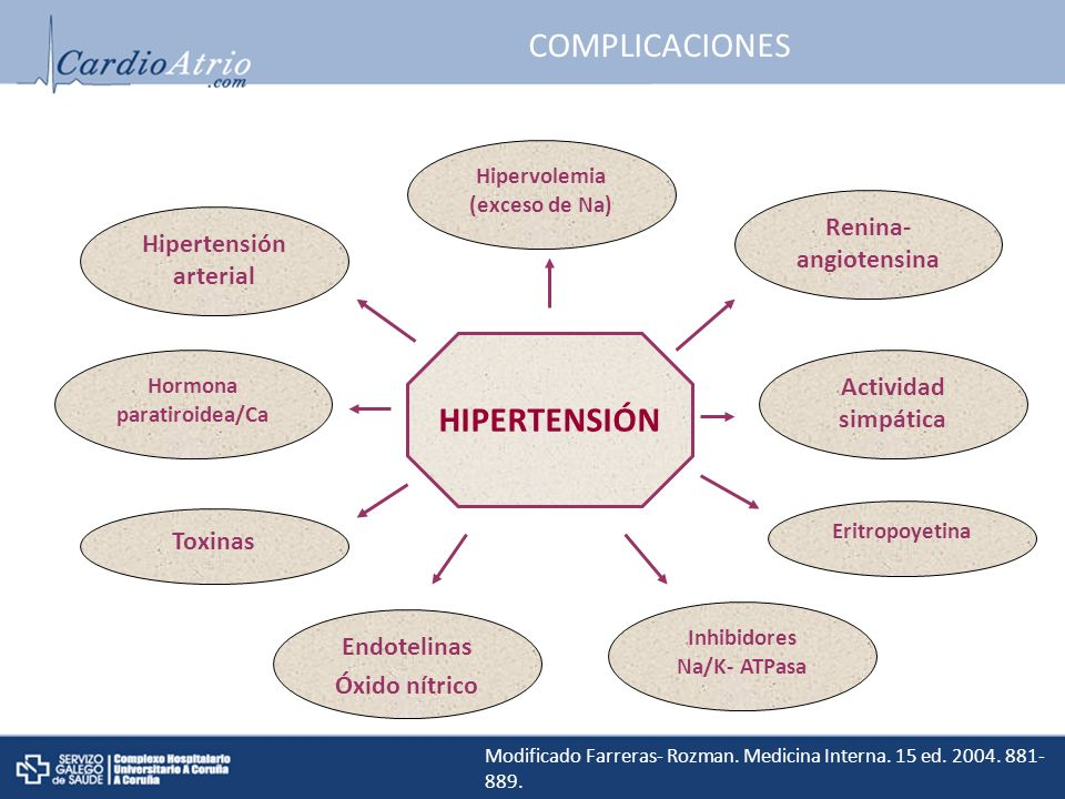COMPLICACIONES HIPERTENSIÓN Renina- angiotensina Hipertensión arterial