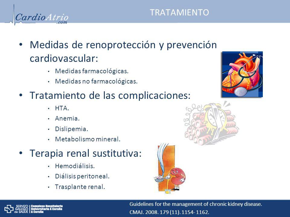 Medidas de renoprotección y prevención cardiovascular: