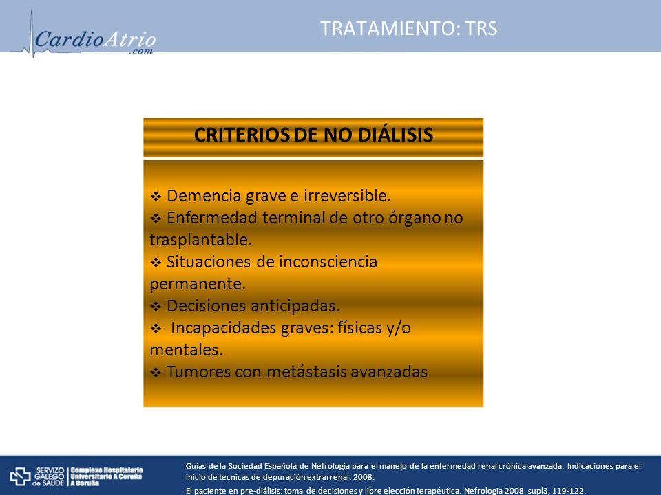 CRITERIOS DE NO DIÁLISIS