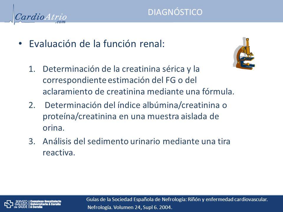 Evaluación de la función renal: