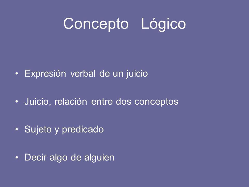 Concepto Lógico Expresión verbal de un juicio