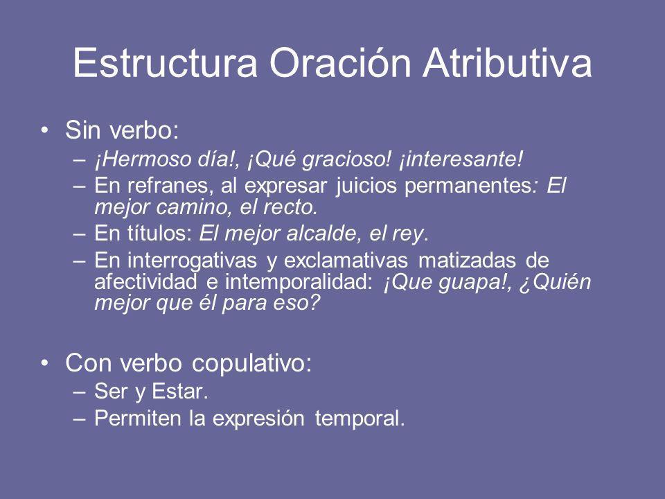 Estructura Oración Atributiva