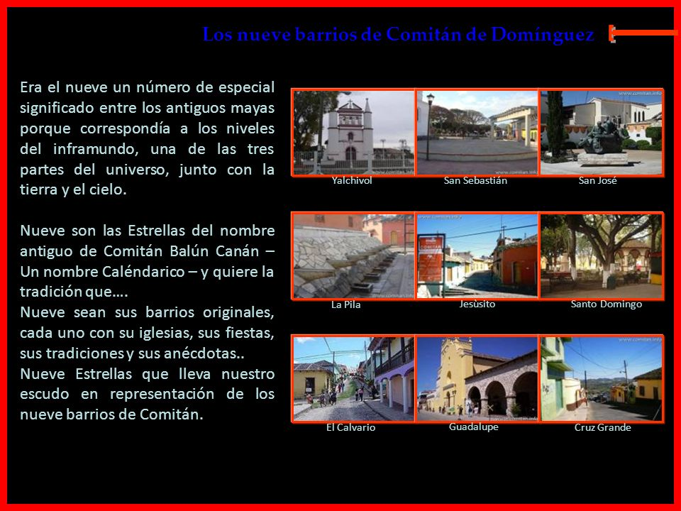 E Los nueve barrios de Comitán de Domínguez