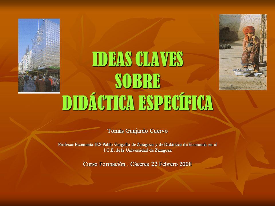IDEAS CLAVES SOBRE DIDÁCTICA ESPECÍFICA