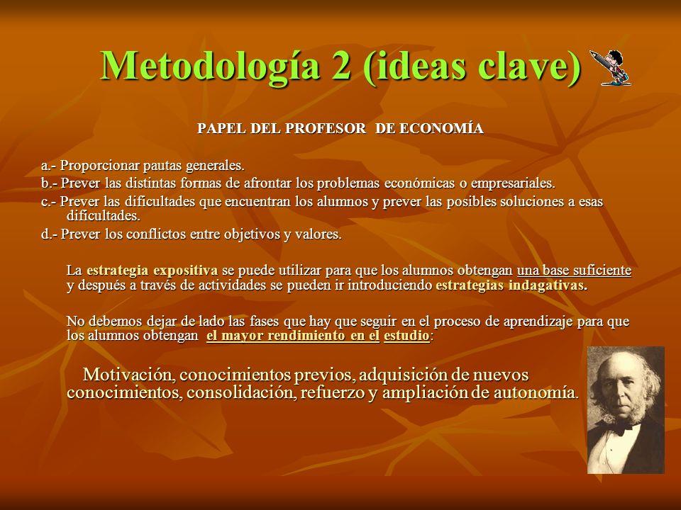 Metodología 2 (ideas clave)