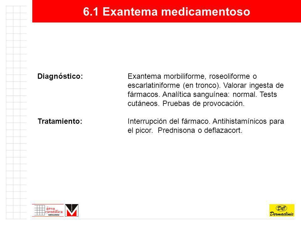 6.1 Exantema medicamentoso