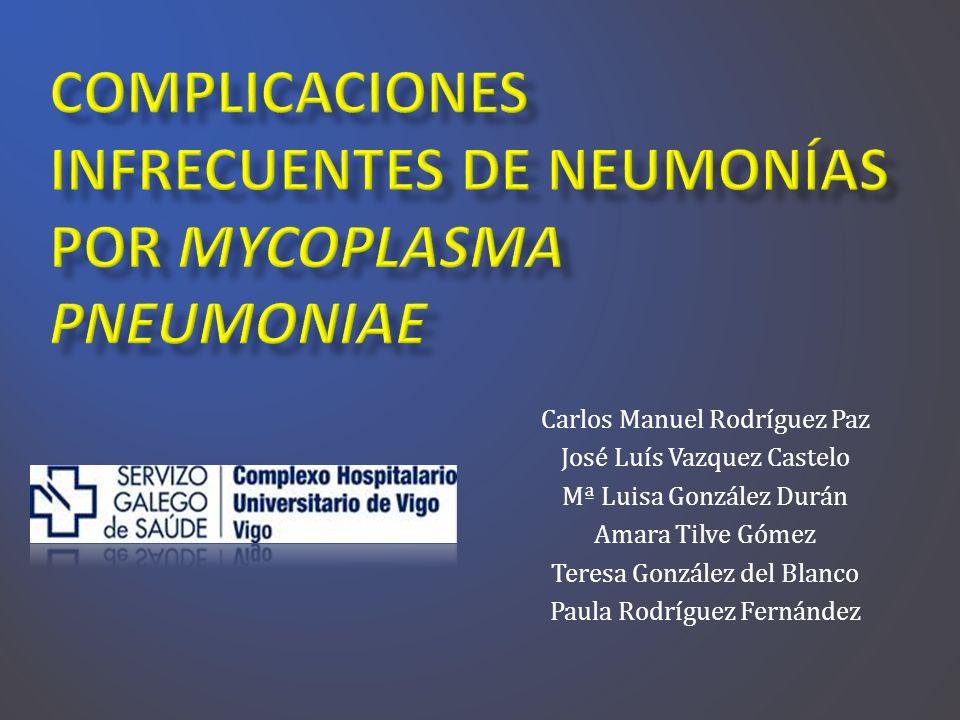 Complicaciones infrecuentes de neumonías por Mycoplasma pneumoniae