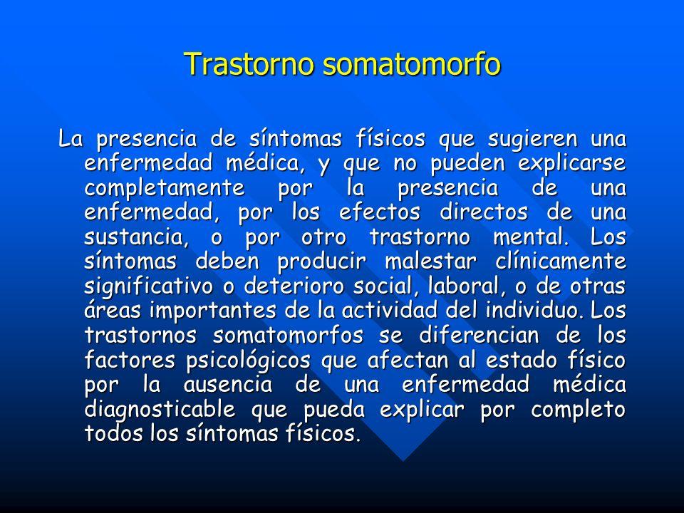 Trastorno somatomorfo