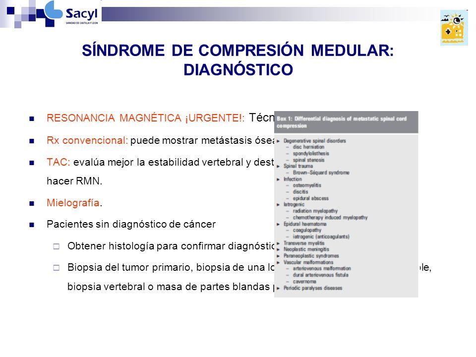SÍNDROME DE COMPRESIÓN MEDULAR: DIAGNÓSTICO