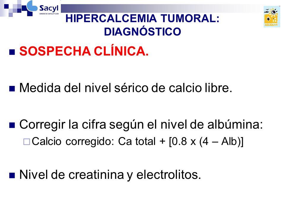 HIPERCALCEMIA TUMORAL: DIAGNÓSTICO